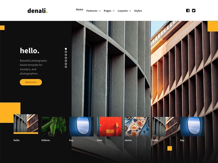 Denali WordPress theme design