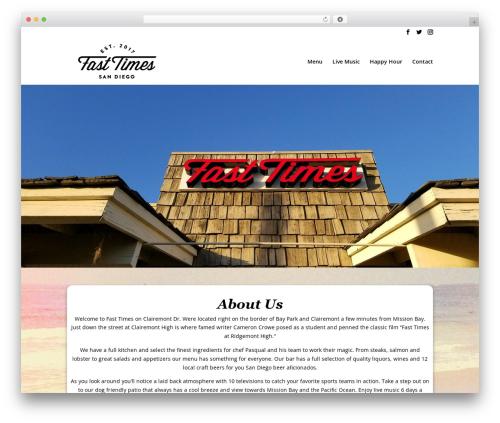 Divi best restaurant WordPress theme - fasttimessd.com