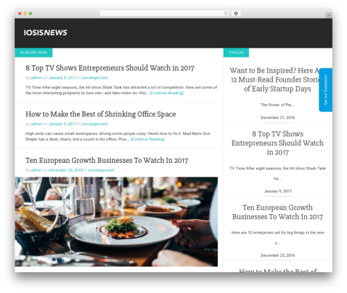 Gatsby best free WordPress theme - iosisnews.com