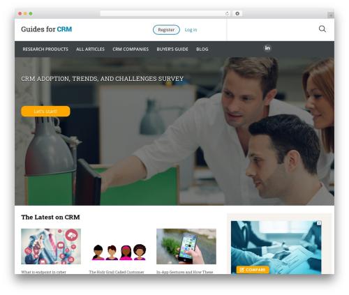 Guides for CRM Wordpress Theme WordPress theme - guidesforcrm.com