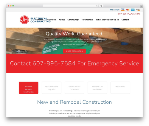 Pitch WP theme - jmelectricalcontracting.com