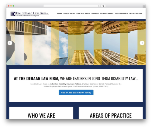 Simplissimo WordPress page template - dehaan-law.com
