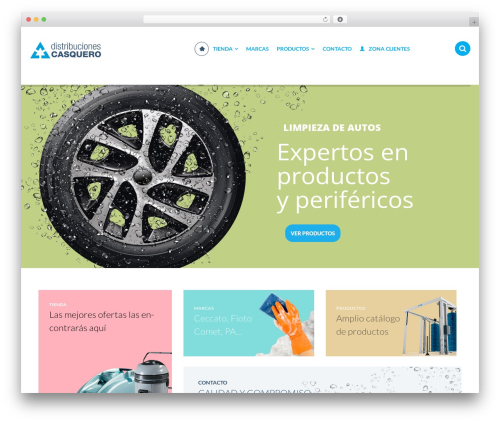 StoreX WordPress shopping theme - casquero.com