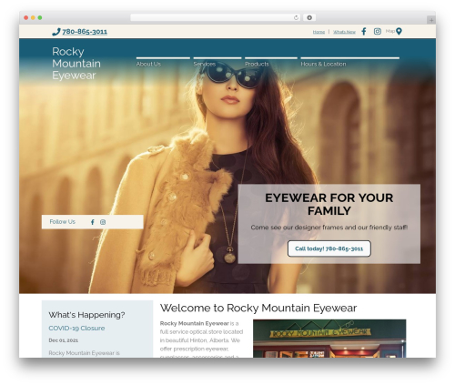 Template WordPress BigBang - rockymountaineyewear.com