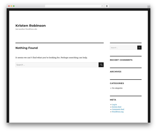 Twenty Sixteen WordPress template free download - kristenjrobinson.com