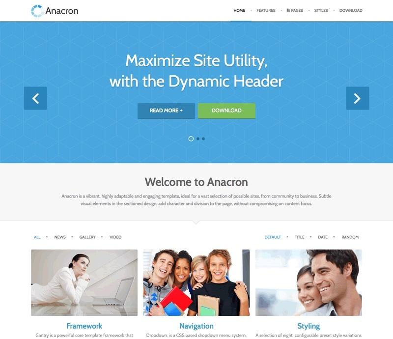 WordPress template Anacron