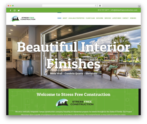 Avada premium WordPress theme - stressfreeconstruction.com
