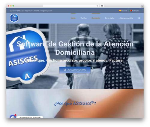 Avada WordPress theme - asisges.com