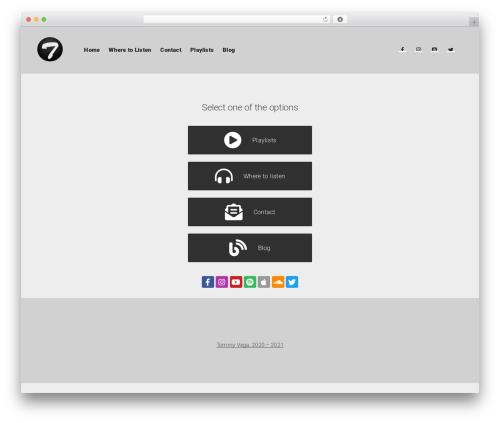 Businessx free WordPress theme - tommyvega.com