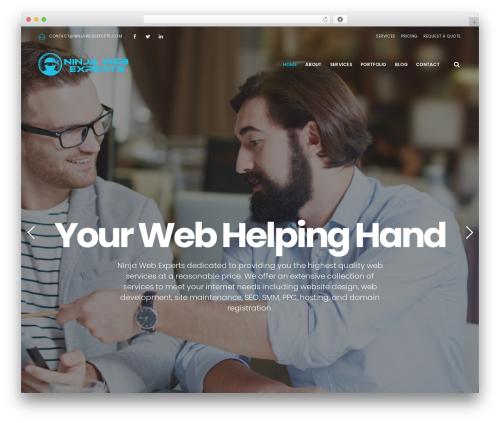 EasyWeb WordPress theme - ninjawebexperts.com