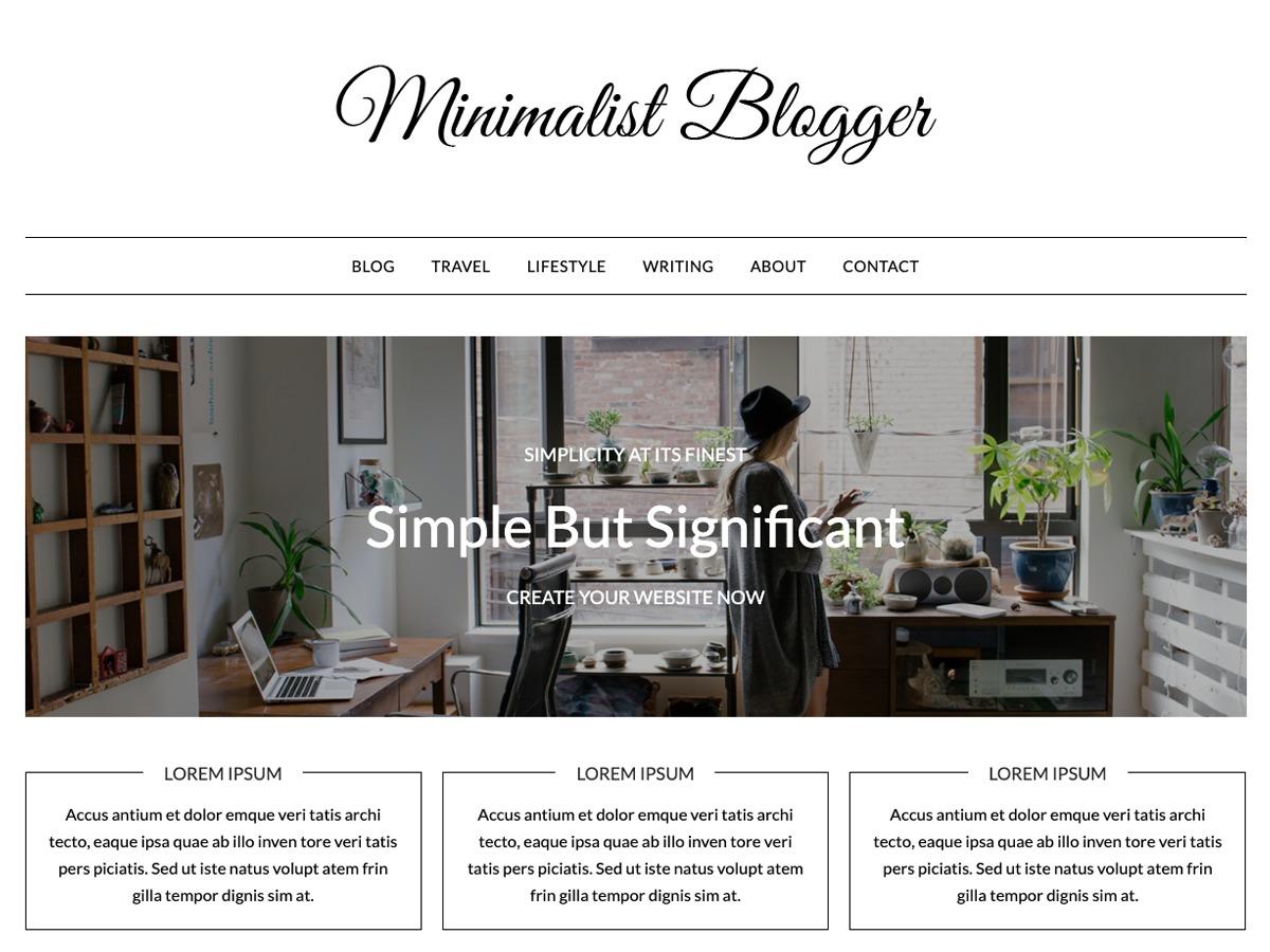 MinimalistBlogger WordPress blog theme