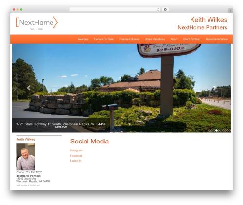 NextHome Responsive WordPress template - keithwilkesrealtor.com