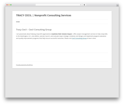 Twenty Twelve WordPress theme - tracycecil.com