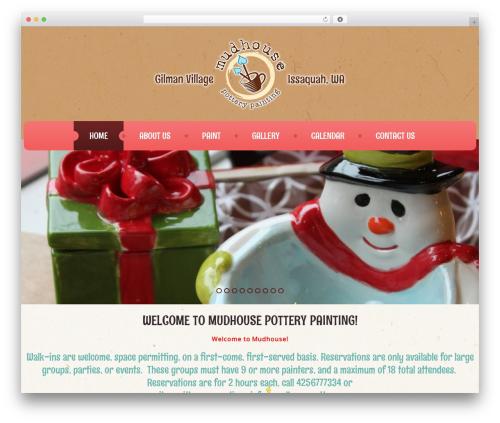 WordPress theme cherry - mudhousepottery.com