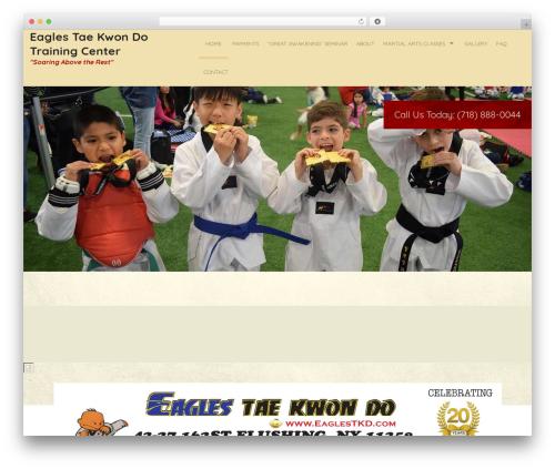 WordPress theme Martial Arts V8 - eaglestkd.com