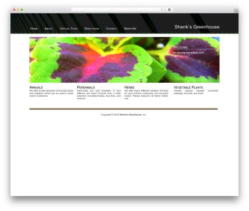 WordPress website template Nature - shenksgreenhouse.com