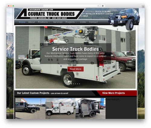 accurate theme WordPress - accuratetruckbodies.com