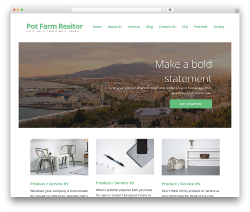 Ascension WordPress theme design - potfarmrealtor.com