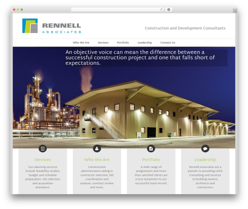 Avada WordPress page template - rennellassociates.com
