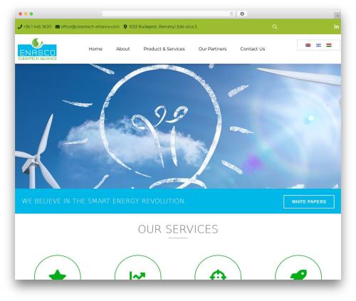 Best WordPress theme EcoWaste Wordpress Theme - cleantech-alliance.com