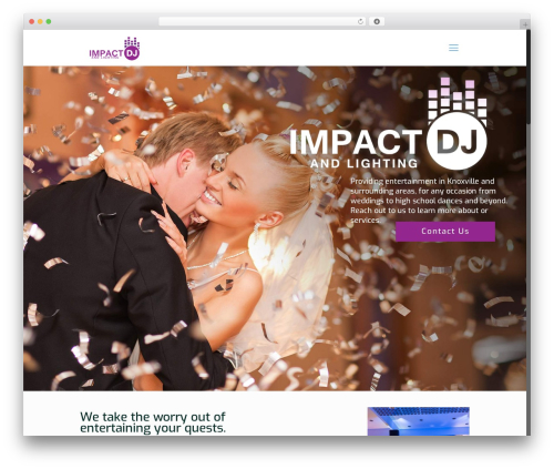 Betheme WordPress theme - impactdjandlighting.com