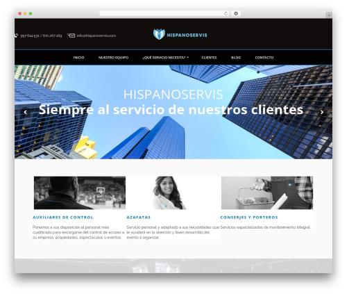 Bodyguard best WordPress template - hispanoservis.com