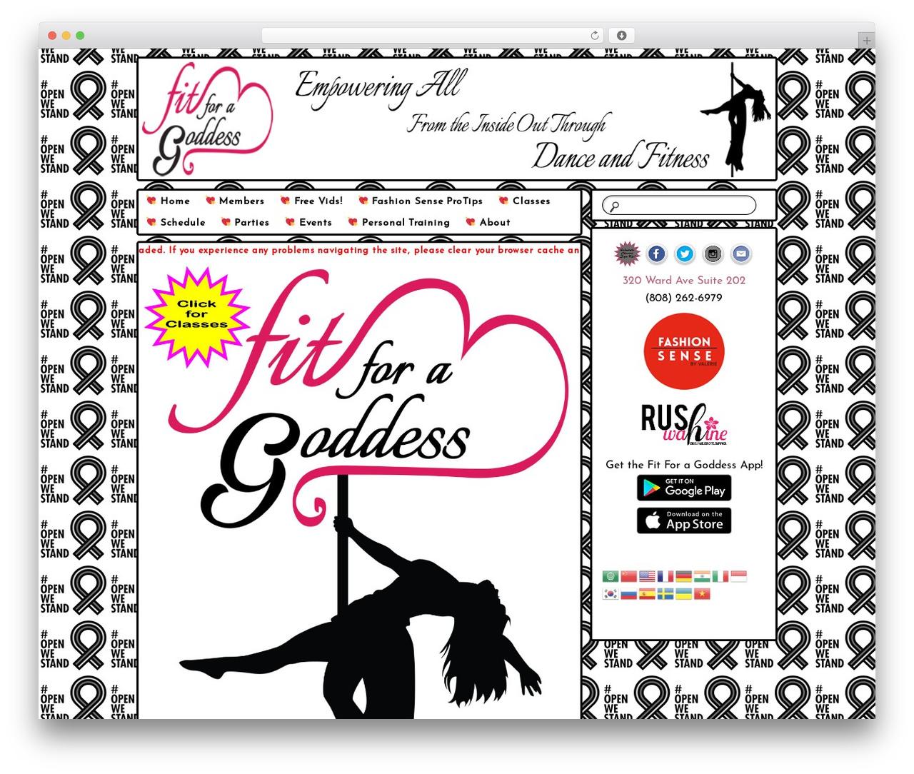 Bouquet fitness WordPress theme - fitforagoddess.com