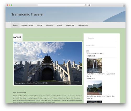 Coller best WordPress theme - transnomictraveler.com