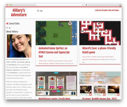 Customizr free website theme - hillarysadventure.com