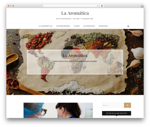 Edge WordPress template - laaromatica.com