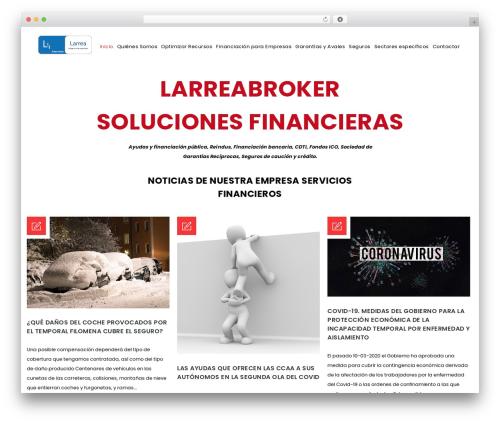 Finance WordPress page template - serviciosfinancieroslarrea.com