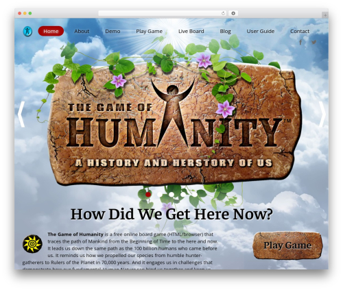 Humanity best WordPress template - gameofhumanity.com