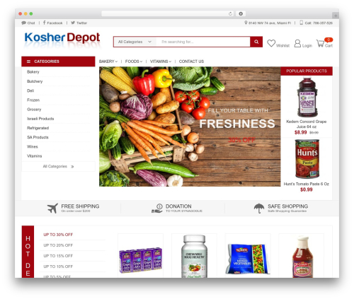 KuteShop best WooCommerce theme - kosherdepot.com