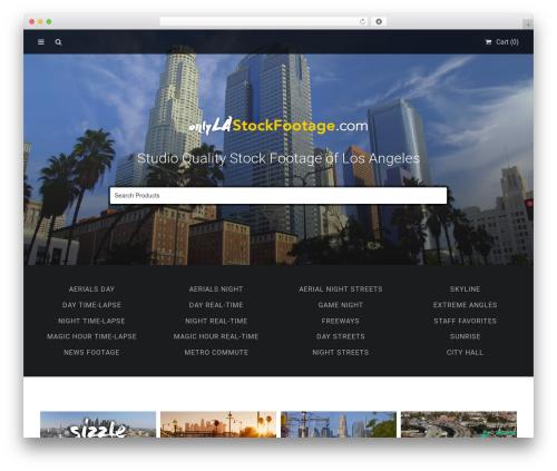 Stocky WordPress video theme - socalstockfootage.com