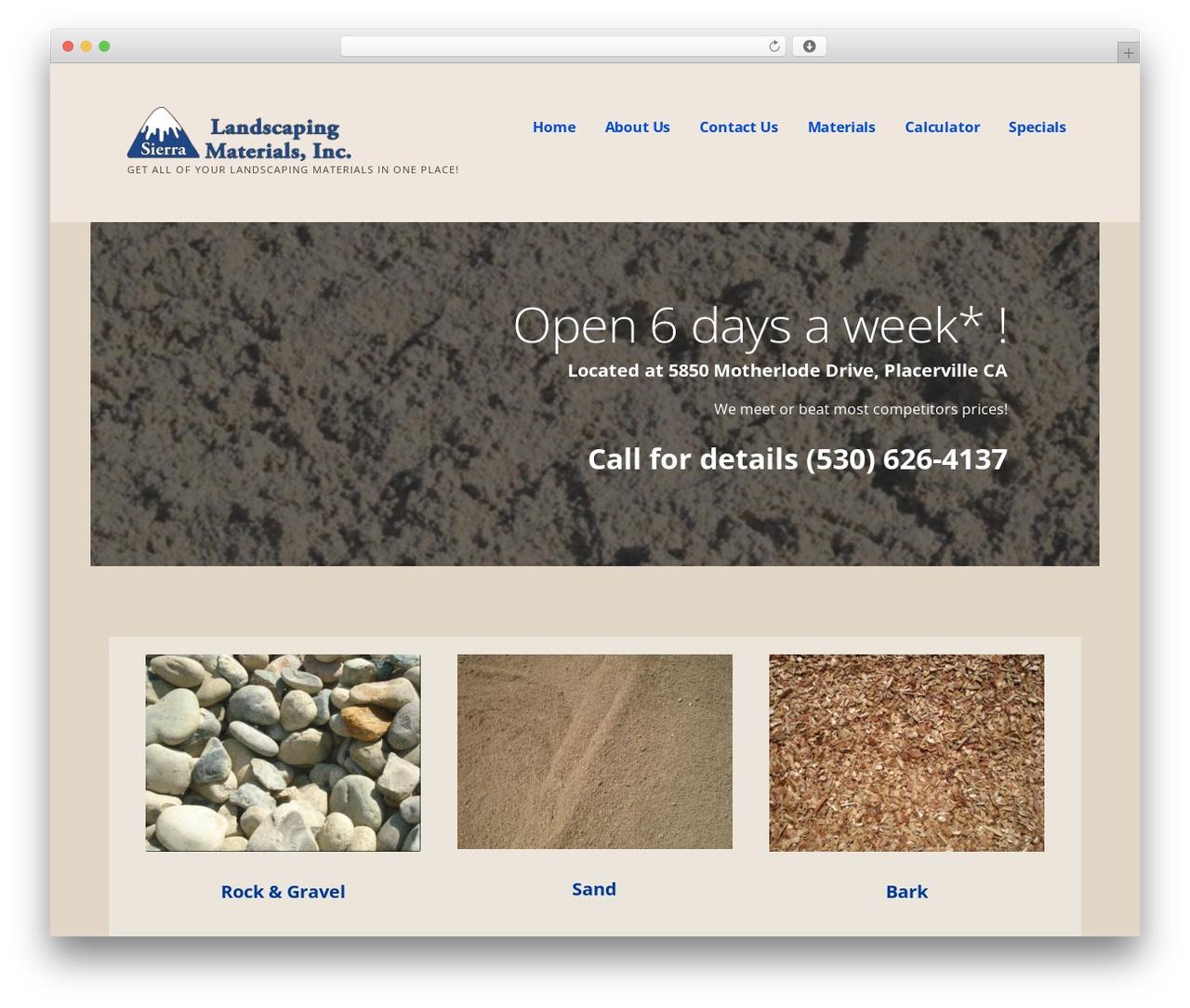 Template WordPress Ascension - sierralandscapingmaterials.com