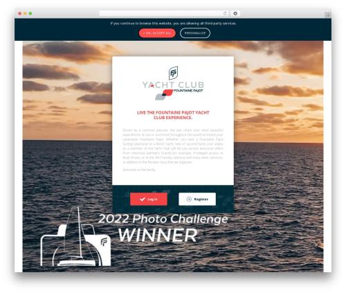 Theme Atmosphère WordPress website template - yacht-club-fountaine-pajot.com