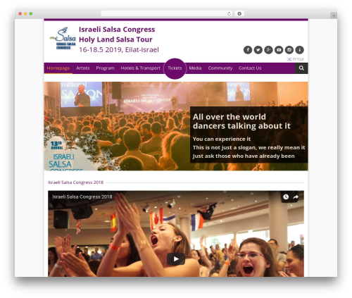 Titanium WordPress theme - israelsalsacongress.com