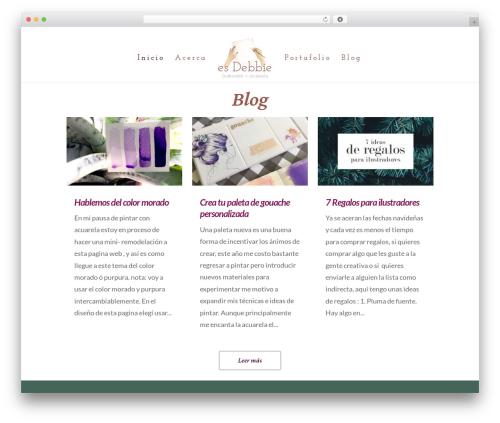 WordPress theme Divi - esdebbie.com