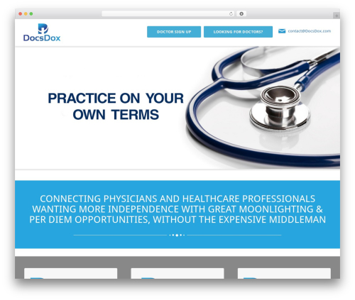 WordPress website template BusiProf Pro - docsdox.com