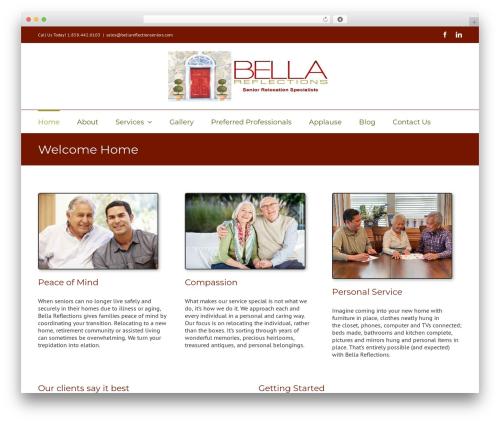 Avada WordPress theme - bellareflectionseniors.com