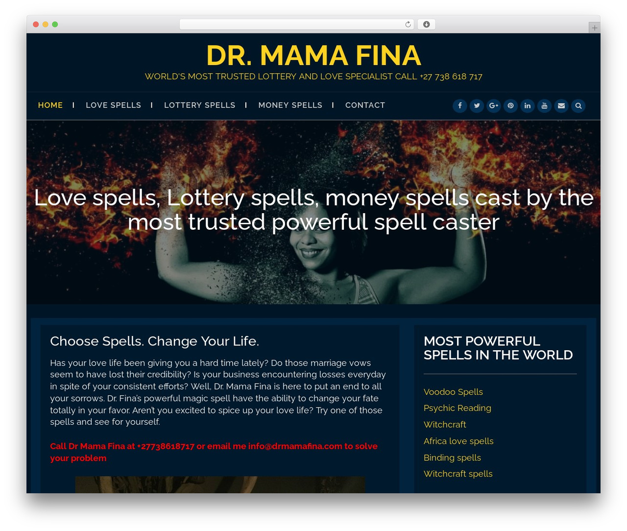 Big Blue free WP theme by Hostmarks - drmamafina com