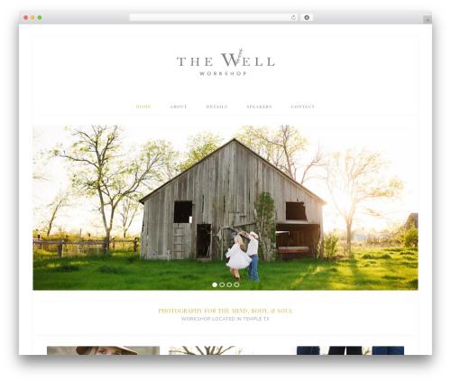Bloom Theme WordPress shopping theme - thewellworkshop.com
