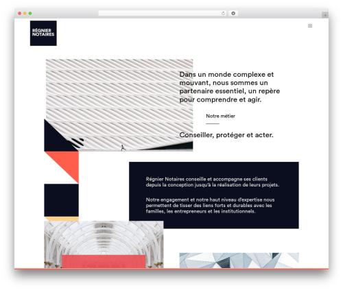 Movedo WordPress website template - regnier-notaires.fr