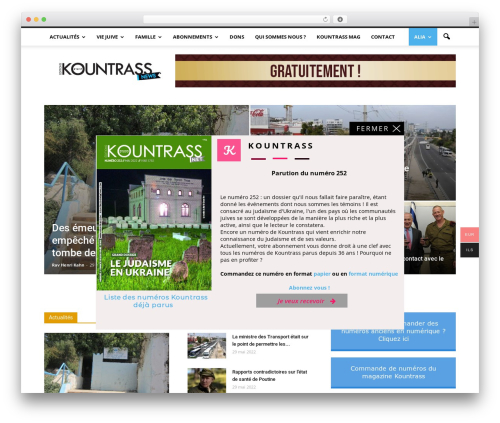 Newspaper WordPress theme design - kountrass.com