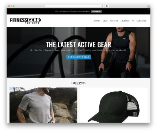 Pinnacle free website theme - fitnessgearforguys.com
