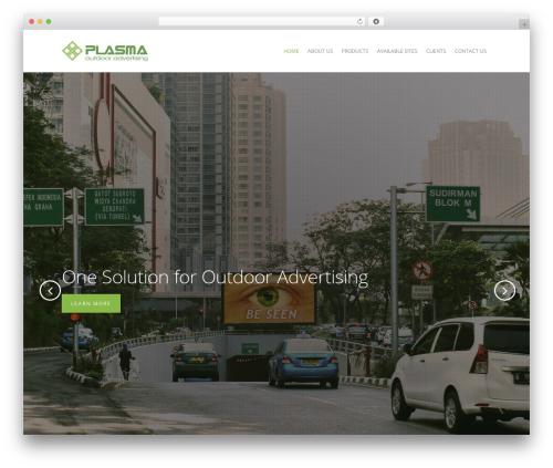 Salient WordPress template for business - plasma-outdoor.com
