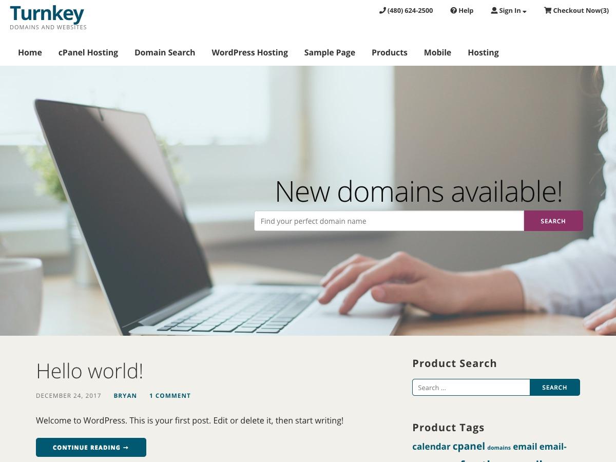 Turnkey Storefront Beta company WordPress theme