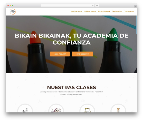 WordPress theme OnePirate - bikain-bikainak.com