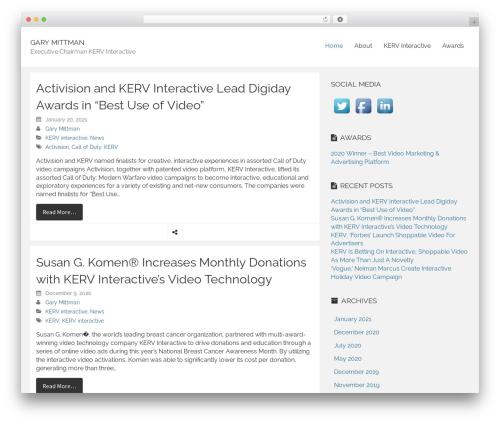 WordPress theme Rational Start - garymittman.com