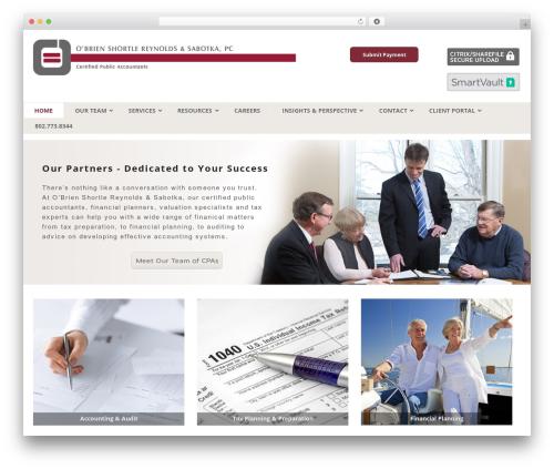 WordPress website template Canvas - vtcpa.com
